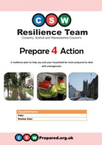CSW Resilience Team Home Emergency Plan Prepare 4 Action